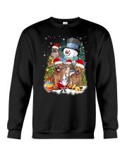 Staffie around snowman 0910 Crewneck Sweatshirt front