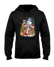 Staffie around snowman 0910 Hooded Sweatshirt thumbnail