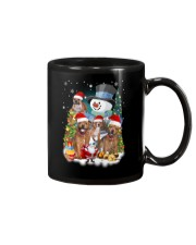 Staffie around snowman 0910 Mug thumbnail
