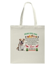 Bulldog love Tote Bag thumbnail