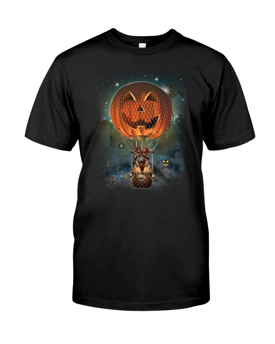 Pumpkin Balloon German Shepherd Classic T-Shirt