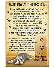 Miniature Schnauzer Waiting Poster 2301 11x17 Poster front