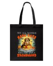 Dachshund And Halloween  Tote Bag thumbnail