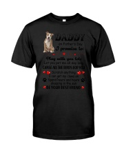 American Staffordshire Terrier on Fathers day Classic T-Shirt thumbnail