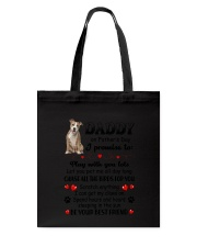 American Staffordshire Terrier on Fathers day Tote Bag thumbnail