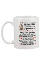 American Staffordshire Terrier on Fathers day Mug back