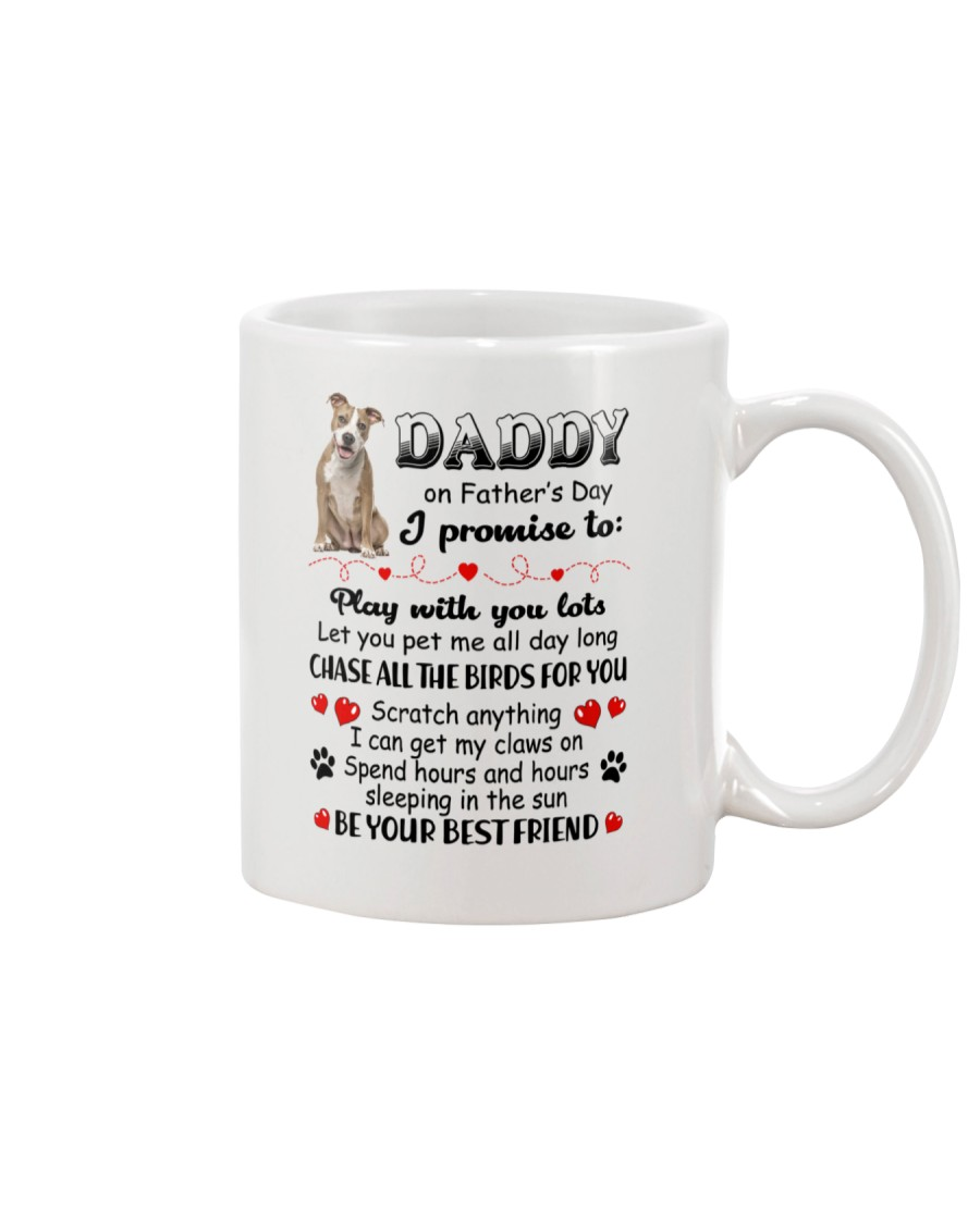 American Staffordshire Terrier on Fathers day Mug