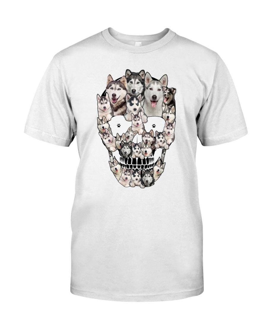 Siberian Husky Skull 1112 Classic T-Shirt