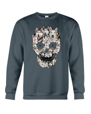 Siberian Husky Skull 1112 Crewneck Sweatshirt thumbnail