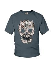 Siberian Husky Skull 1112 Youth T-Shirt thumbnail