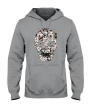 Siberian Husky Skull 1112 Hooded Sweatshirt thumbnail