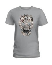 Siberian Husky Skull 1112 Ladies T-Shirt thumbnail