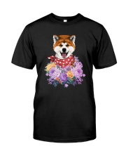 Akita flowers Classic T-Shirt front