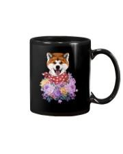 Akita flowers Mug thumbnail