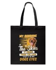 Golden Retriever and sunshine Tote Bag thumbnail