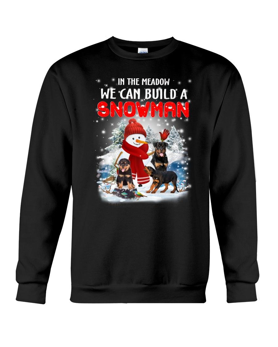 Rottweiler And Snowman Crewneck Sweatshirt