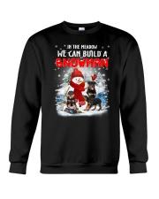 Rottweiler And Snowman Crewneck Sweatshirt front