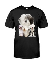 Old English Sheepdog Awesome Family 0701 Classic T-Shirt front