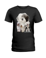 Old English Sheepdog Awesome Family 0701 Ladies T-Shirt thumbnail