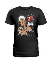 Shiba Inu Reindeers 1609 Ladies T-Shirt thumbnail