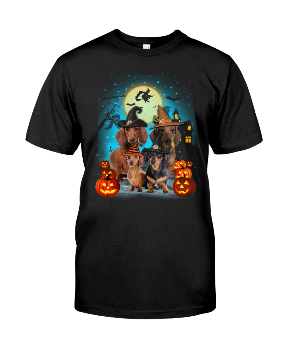 Gaea- Dachshund Halloween- 1508- 20 Classic T-Shirt