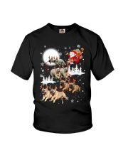 EROS - French Bulldogs Reindeers - 0611 - 74 Youth T-Shirt thumbnail