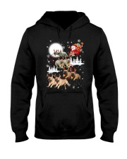 EROS - French Bulldogs Reindeers - 0611 - 74 Hooded Sweatshirt thumbnail