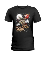 EROS - French Bulldogs Reindeers - 0611 - 74 Ladies T-Shirt tile