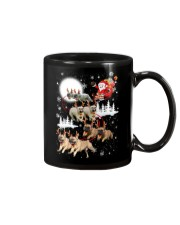 EROS - French Bulldogs Reindeers - 0611 - 74 Mug tile