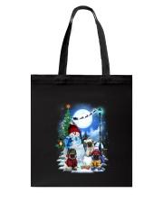 Pug and snowman Tote Bag thumbnail