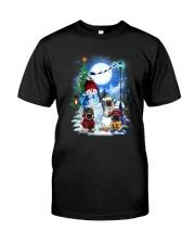 Pug and snowman Classic T-Shirt thumbnail