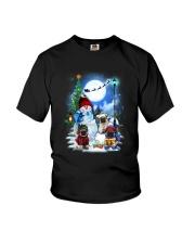 Pug and snowman Youth T-Shirt thumbnail