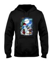 Pug and snowman Hooded Sweatshirt thumbnail
