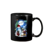 Pug and snowman Mug thumbnail