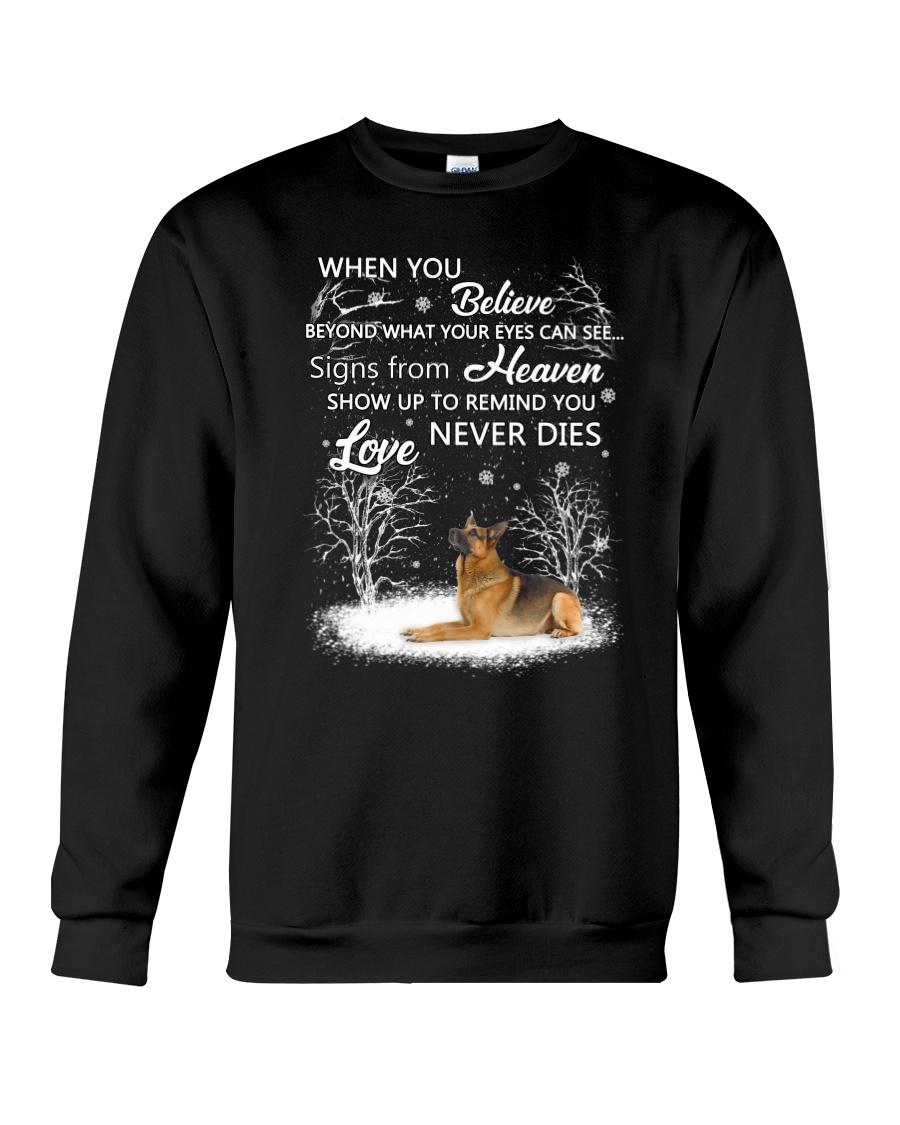 German Shepherd Love never dies 2210 Crewneck Sweatshirt