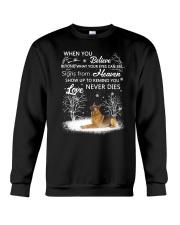 German Shepherd Love never dies 2210 Crewneck Sweatshirt front