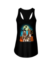 Basset Hound Halloween 2407 Ladies Flowy Tank tile