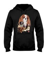 Cavalier King Charles Spaniel Running Hooded Sweatshirt front