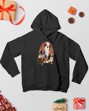 Cavalier King Charles Spaniel Running Hooded Sweatshirt lifestyle-holiday-hoodie-front-2