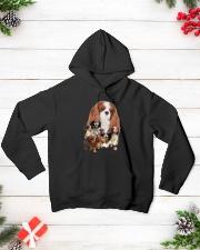 Cavalier King Charles Spaniel Running Hooded Sweatshirt lifestyle-holiday-hoodie-front-3