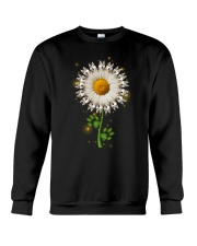 Siberian Husky Daisy Flower  Crewneck Sweatshirt thumbnail