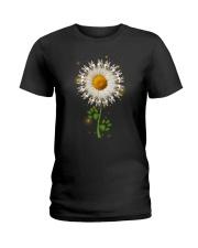 Siberian Husky Daisy Flower  Ladies T-Shirt thumbnail