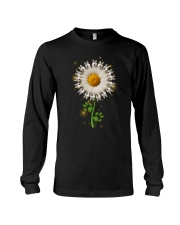 Siberian Husky Daisy Flower  Long Sleeve Tee thumbnail