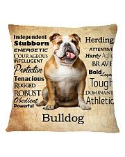 Bulldog Virtues 2206 Square Pillowcase back