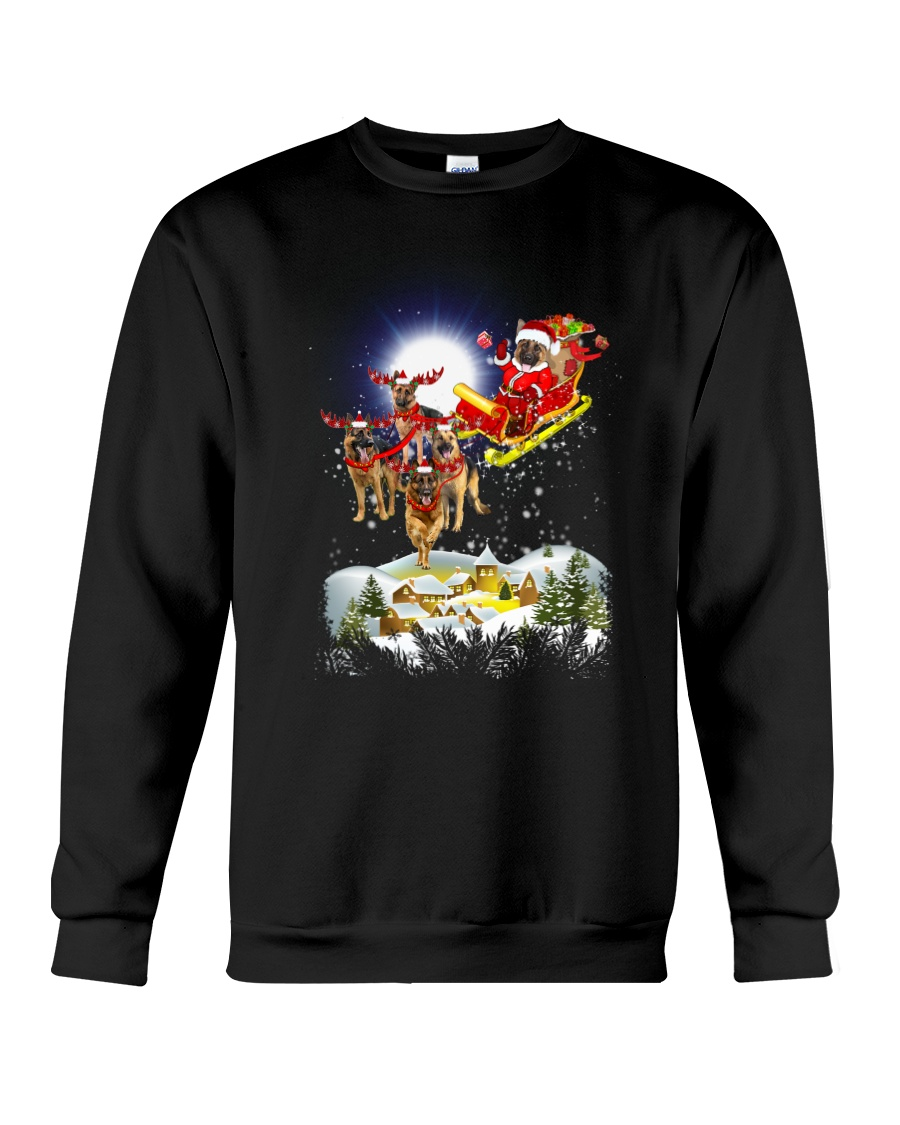 German Shepherds and Santa Crewneck Sweatshirt