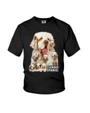 Clumber Spaniel Awesome Family 0701 Youth T-Shirt thumbnail