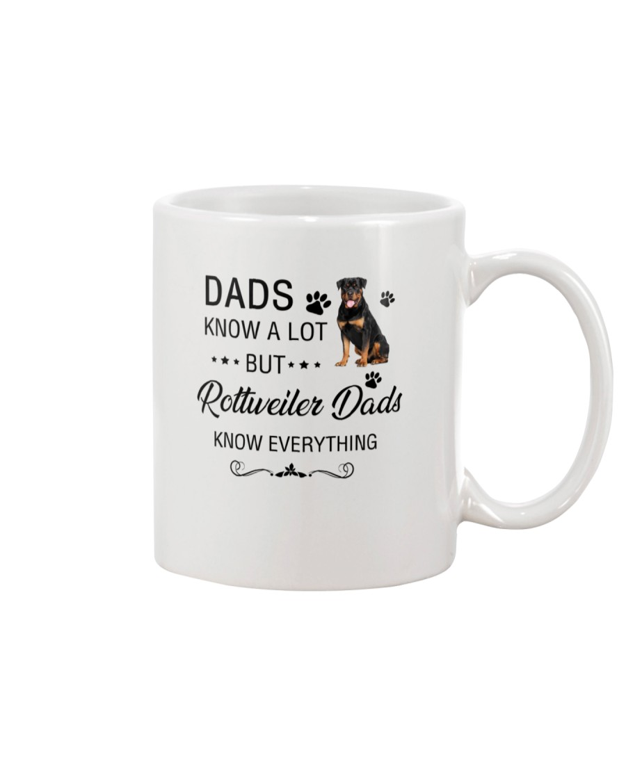 Rottweiler Dads Know Everything 1805 Mug