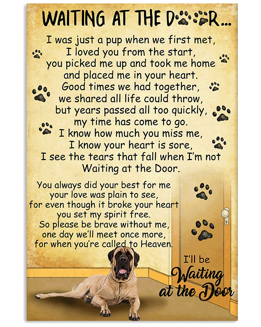 Mastiff Waiting at The Door 11x17 Poster