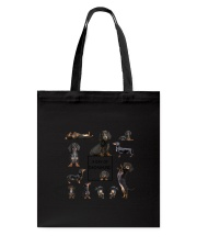 A Day Of Dachshund  Tote Bag thumbnail