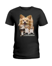 Chihuahua Awesome Family 0501 Ladies T-Shirt thumbnail